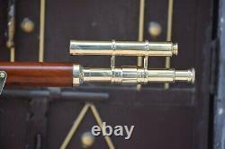 39 Télescope D'astor De Griffith De Baril Double De Laiton De Cru Avec Le Cadeau De Stand De Trépied
