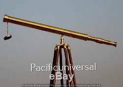 Antique Travail Scope Telescope Vintage Trépied Nautique Spyglass De Noël