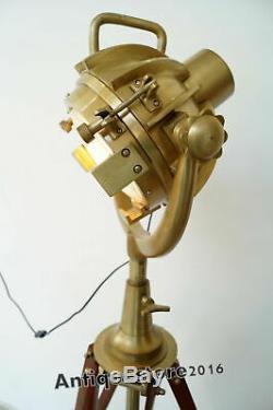 Antique Vintage Designer Industriel Nautique Spot Light Lampadaire Trépied Décor