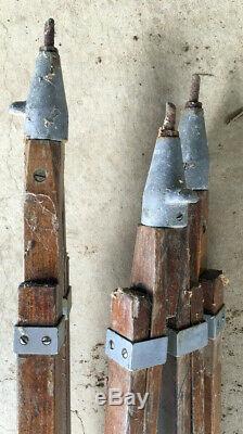 Antique Vintage Wood Trépied Par Equip Caméra. Co. Ny Patent Appl Condition Bon