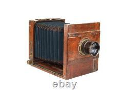 Appareil Photo Soviétique Vintage Fkd 13 X 18 Industar 4 1 4,5 F = 21 CM + Trépied En Bois