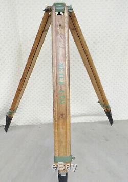Arpentage En Bois Vintage Industriel Trépied Théodolite Stand Nk Tec Ltd