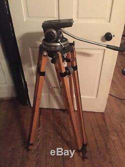 Arri IIC 1300 35mm Caméra De Tête De Caméra Et Trépied En Bois Vintage Antique Rare