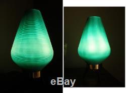 Base De Trépied En Bois Lampe Aqua Beehive Vintage MID Century Moderne Atomic Turquoise