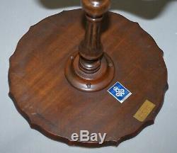 Bevan Funell Claw & Ball Vintage Mahogany Lampe Trépied Côté Table Sculpté Ornement