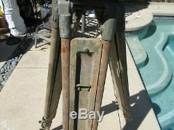 Bois Ancien Leg Extensible Transit Niveau Stand T-25 Surveyor 3 1/2' 5 1/2