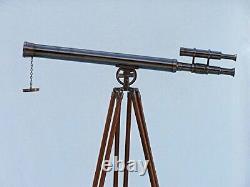 Brass Antique Vintage Telescope Huilé Griffith Sol Permanent Trépied