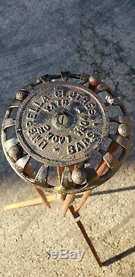 Broche En Bois Vintage Séchant Le Support De Trépied, Barres De Vêtements De Parapluie Pat'd 1904