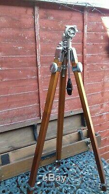 Chrome Vintage En Bois Trépied Box Camera / Nautique Thalhammer Dernière Semaine Ebay