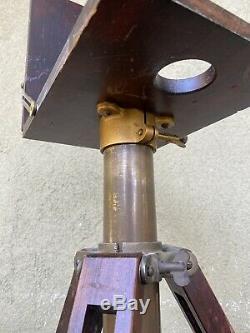 Couronne Graflex Compact Support Vintage Trépied En Bois