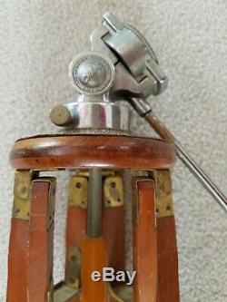 Craig-thalhammer Trépied-appareil Photo En Bois Vintage Antique Movie Supply