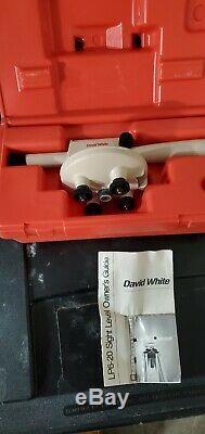 David White Lp6-20 Sight Niveau / W Case, Vintage En Bois Trépied Bon État