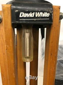 David White Lp6-20 Sight Niveau / W Case, Vintage Stick Bois & Trépied Mesure