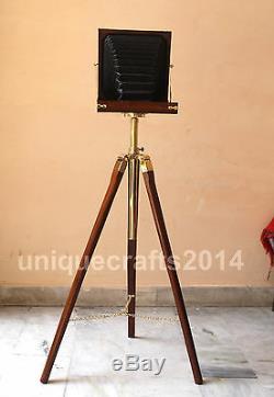 Designer Vintage Caméra En Bois Avec Trépied Retro Look Nautique Décoratifs Pour La Maison