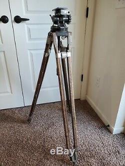 Équipement Vintage Camera Co. Professional Jr Friction Tête Avec Trépied En Bois