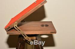 Folmer Plateforme Compacte Support Vintage En Bois Trépied Par Folmer Graflex Corp