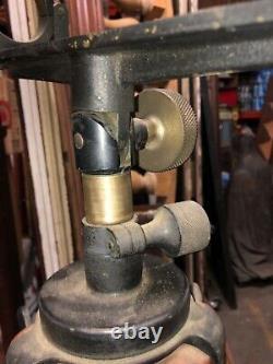 Gorgeous Vintage Wood Transit Arpenteur Trépied Stand Pieds En Laiton Orig Finition 59