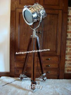 Hollywood Vintage Studio Lampadaire Projecteur Spot Avec Trépied