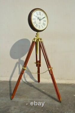 Horloge De Sol Avec Trépied Home Decor Vintage Marine + Horloge Murale Décor