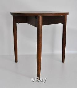 Jens Risom Vtg MID Century - Tabouret De Table, Modèle Trépied En Noyer Moderne, Danemark