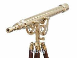 Laiton Massif Nautique Télescope Avec 42 Trépied Marine Scope Vintage Décor