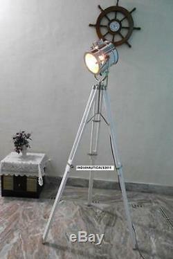 Lampadaire Spotlight Vintage Avec Pied Sur Trépied Lampadaire Chromé Spot Light