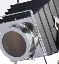 Lampadaire Trépied Décoratif Vintage Métal Noir