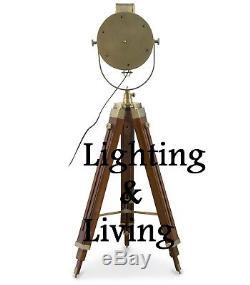 Lampadaire Trépied Industriel Vintage Lampe Rh Support En Bois Décors Cadeaux Nautiques