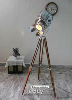 Lampadaire Trépied Lumière Concepteur Vintage Chrome Nautique Decoretv Article Cadeau