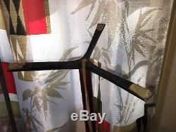 Lampe De Table Raymor Vintage En Fer Trépied En Bois