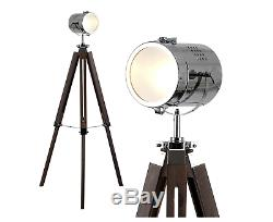 Lampe Rétro Vintage Élégante De Tache De Lampe, Concepteur D'éclairage De Trépied De Plancher