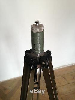 Lampe Trépied En Bois De Photographie D'époque