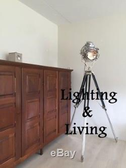 Lampes À Plancher Pour Trépied En Bois En Bois Clintic Hollywood Nickel Éclairage De Décor Royal