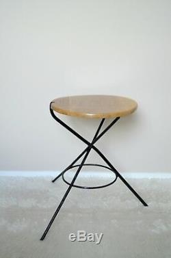 Magasin Sting Trépied Vintage Table Basse, Bois Et Table D'appoint En Métal