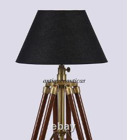 Main Vintage Classic Tripod Floor Shade Lamp Corner Home Decor Lamp Stand