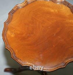 Paire De Bevan Funell His & Her Vintage Mahogany Trépied Lamp Side End Tables