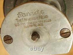 Panrite En Bois Bois Trépied Vintage Avec Universal Head De Nice