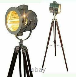 Paras Retro Design Vintage Style Spotlight Projecteur Projecteur Télescopique Trépied Plancher