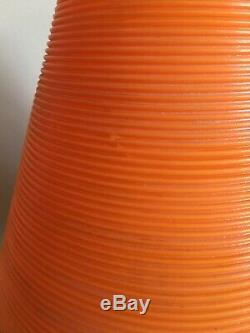 Pied De Trépied De Lampe Vintage Beehive Jambes En Bois De Ruche Orange