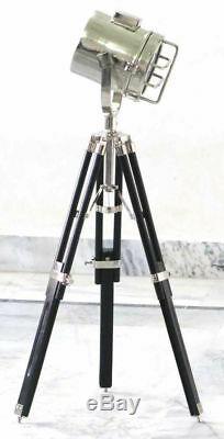 Pied De Trépied Lumière Nautique Vintage Decor En Bois Home Studio Searchlight Stand