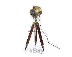 Projecteur De Lumière Trépied De Recherche De Lampe Nautique Vintage Hollywood Extensible