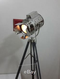 Projecteur Nautique Vintage Avec Projecteur Trépied En Bois