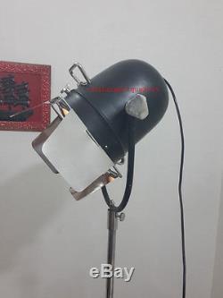 Projecteur Rétro Avec Trépied Noir, Lampadaire Vintage