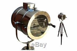 Projecteur Vintage Rétro Hollywood Lampe Projecteur Trépied Lumineux Nouveau