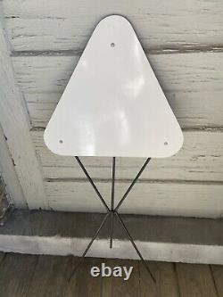 Rare Vintage Tripod Side Table MID Century Mod Space Age Triangle Plie Rétro