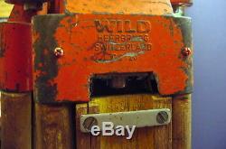 Rare, Vintage Wild Heerbrugg Gst20 Grand Trépied En Bois Extensible Trépieds En Bois
