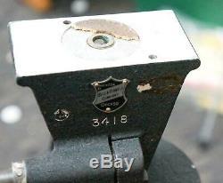 Rare Vintage Wood Bell & Howell Pan Tilt Film Trépied! 1u77