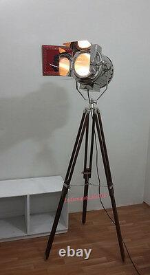 Rétro Théâtre Décoratifs Pour La Maison Vintage Projecteur Avec Brown Trépied