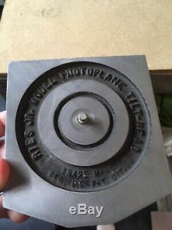Ries Jr. Photoplane Tilt Head Trépied Vintage En Bois
