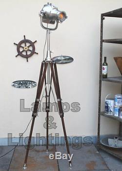 Spot Fait Main De Maison Crouse Decor. Trépied En Bois En Aluminium Vintage